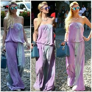 Gypsy05 Silk Tye Dye Maxi Dress